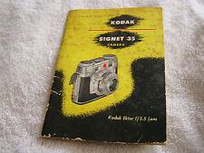 Vintage Kodak Signet 35 Camera Ektar f/3.5 Lens