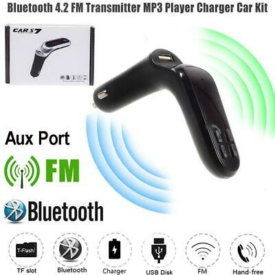 Competent Bluetooth 4.2 Wireless Handsfree Car Fm Transmitter Mp3 Player Usb Charger Kit