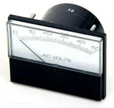 Vintage Alternating Current Volts Panel Meter Gauge 0 50