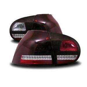 VW-Golf-5-LED-Rueckleuchten-Ruecklichter-Set-Urban-Style-CC-Look-dunkel-rot-cherry