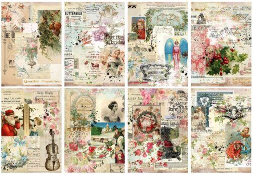12688 Decoupage-bastelpapier-Soft papel-Vintage-invierno-navidad Christmas