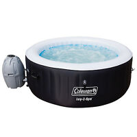 Coleman Saluspa 4-person Portable Inflatable Outdoor Spa Hot Tub, Black on sale