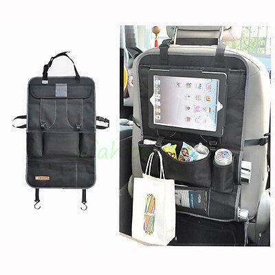 Back Seat Car Organiser with Tablet Holder Travel iPad Galaxy Storage Headrest