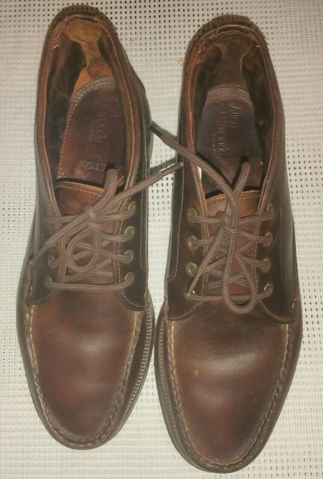 Allen Edmond Holton Chelsea  Herren Leder Stiefel Stiefel Braun Gr. 42 UK 8