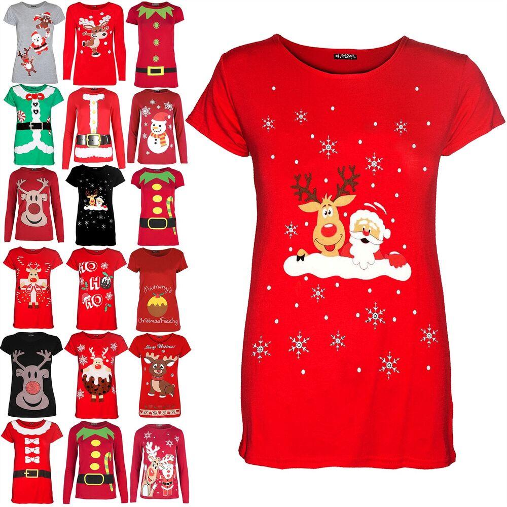Consciencieux Enfants Filles De Noël De Noël à Mancherons Renne Santa Mur De Flocons De Neige T Shirt Top Doux Et LéGer