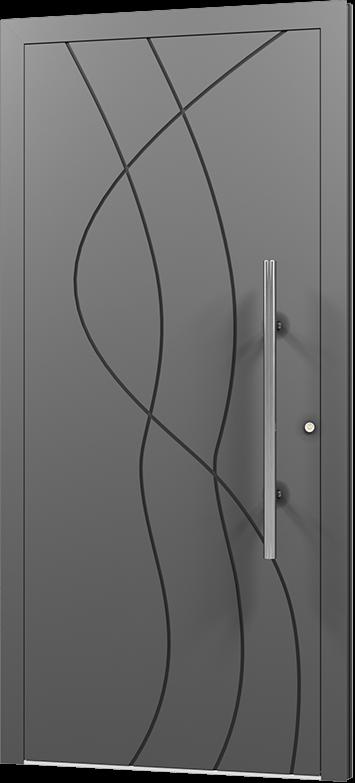 Aluminiumtür Komplett Tür Wohnungstür Eingangstür Haustür Elegant Exklusiv