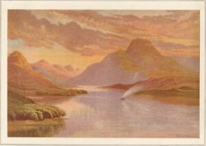 LOCH-LOMOND-SCOTLAND-A-Landscape-Antique-Art-Chromolithograph-Print-1878