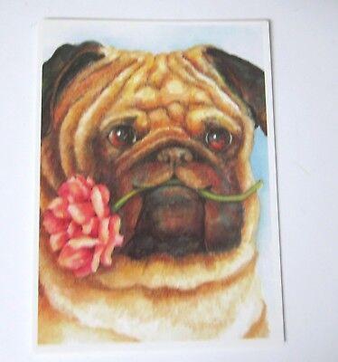 Pug Birthday Card with Envelope