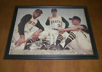 Pirates Roberto Clemente - Wills - Alou Color Framed Print