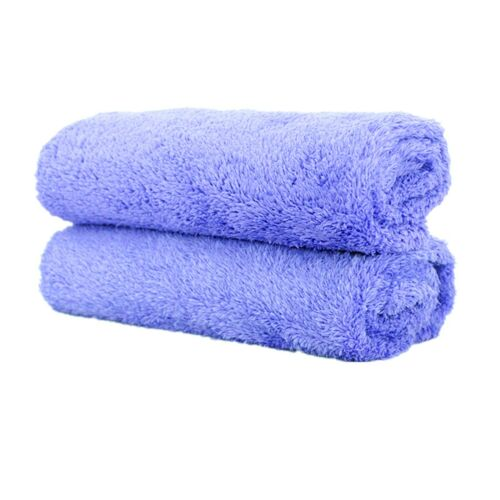 2Pcs Huge 40x 40 cm Purple Soft Microfiber Towel Scratch Free Car Wash Detailing