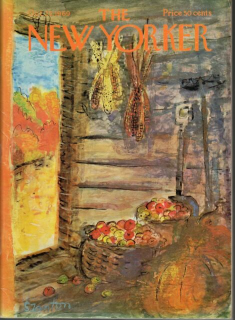 The New Yorker Magazine October 25, 1969 Autumn/Fall by Beatrice Szanton Good