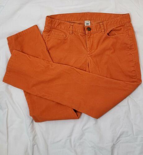 J. Crew 30s Women's City Fit Bright Salmon Orange
