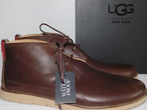 f74f5b76c40 Details about NEW MENS SIZE 13 GRIZZLY UGG FREAMON WATERPROOF LEATHER  LACE-UP CHUKKA BOOTS