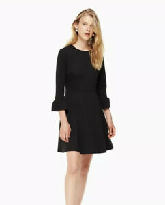Kate-Spade-Broome-Street-Ponte-Fit-Flare-Dress-In-Charm-Black-Size-S