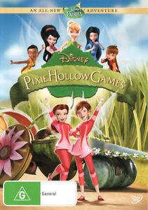 Pixie-Hollow-Games-NEW-DVD-Tinker-Bell-Rosetta-Chloe-Region-4-Australia