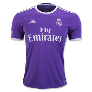 adidas Youth Real Madrid 16 17 Away Jersey Ray Purple White AI5163 ... 189a9ba83