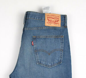 Levi-039-s-Strauss-amp-Co-Hommes-514-Jeans-Jambe-Droite-Taille-W34-L30-AMZ1290