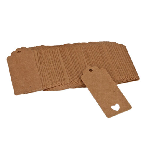 Details about  /100pcs Blank Kraft Paper Hang Tags Wedding Party Favor Label Price Gift CarYRDE
