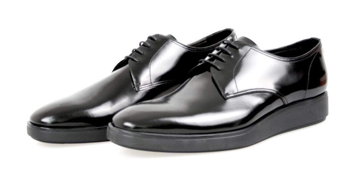 AUTHENTIC LUXURY PRADA BUSINESS scarpe 2EE182 nero NEW US 9.5 EU 42,5 43