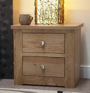 Image Is Loading Kingston Solid Oak Bedroom Furniture Two Drawer Wide