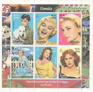 Marilyn-MONROE-Audrey-Hepburn-grace-kelly-Susan-Hayward-neuf-sans-charniere-timbre-sheetlet