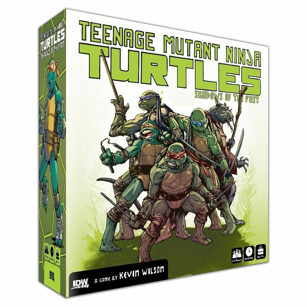 Teenage Mutant Ninja Turtles Shadows Of The Past Board Game IDW Games Brand New