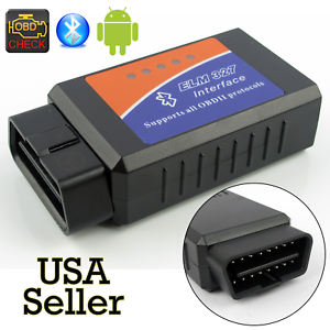 ELM327 Bluetooth Interface OBD2 Auto Scanner Adapter Tool For TORQUE ANDROID