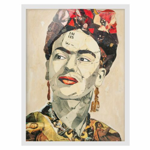 Picture with Frame-FRIDA KAHLO-Collage No 2-Portrait 4:3