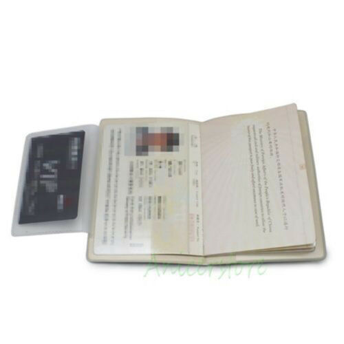 Transformers Autobot 3D Passport Holder Protect Cover Trip ID Card Document Case