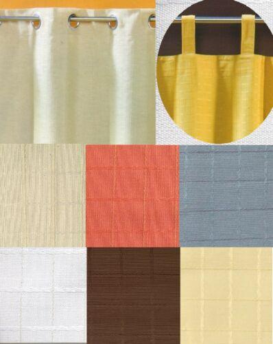 Rideau opaque comme ösenschal ou boucles écharpe rideau NATURE DECO typ177