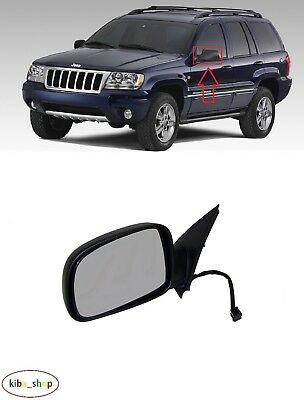 Passenger Side Right RH Rearview Mirror Glass For Jeep Grand Cherokee 1999-2004