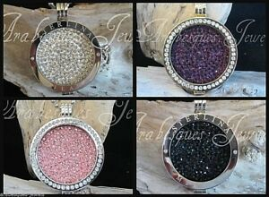 1x-SMALL-COIN-MONEDA-ONLY-FOR-MI-MILANO-NECKLACE-PENDANT-KEEPER-GENUINE-CRYSTAL