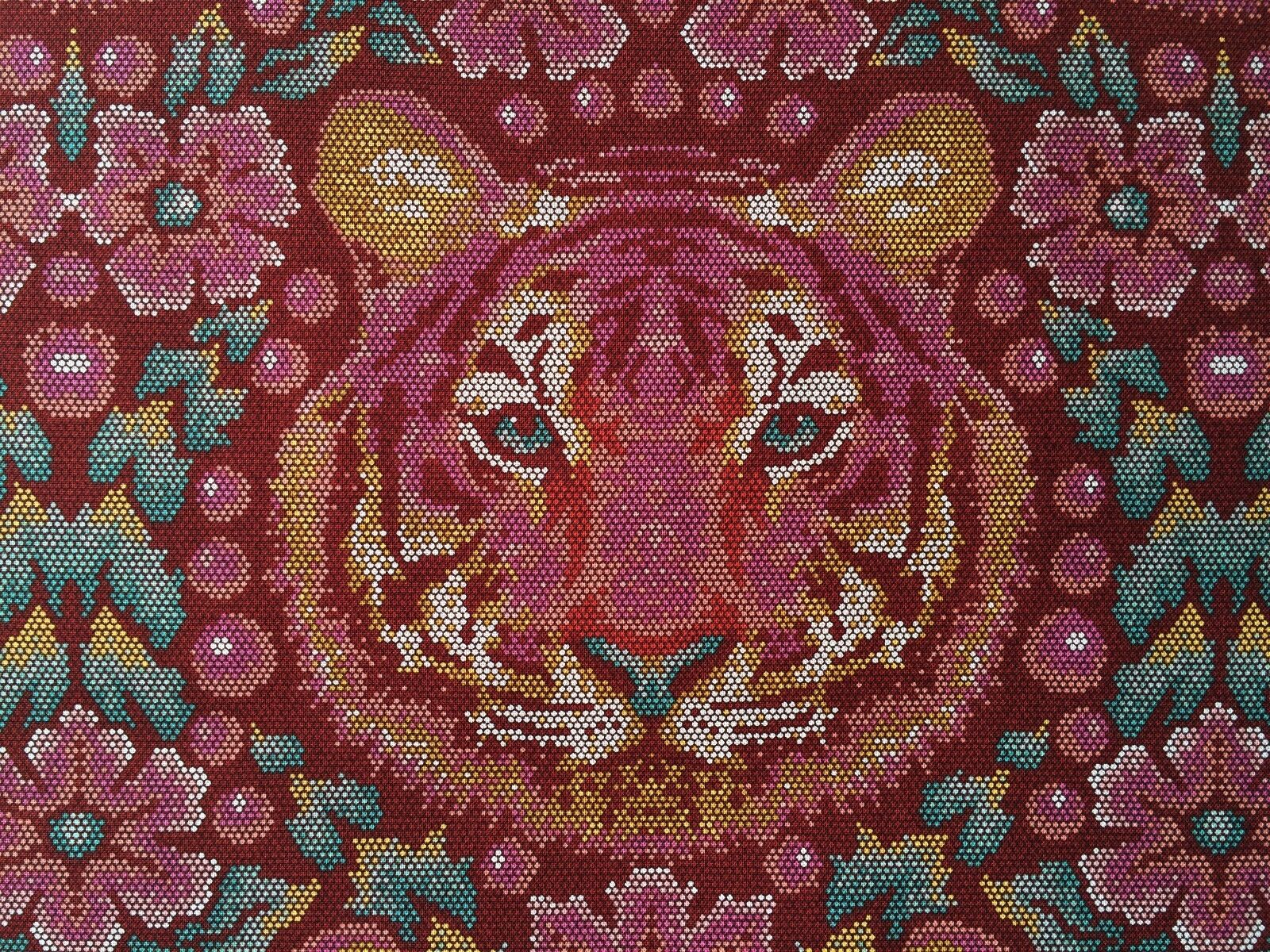 By 1//2 Yard Free Spirit Eden Tula Pink Fabric ~ Crouching Tiger Tourmaline ~ red