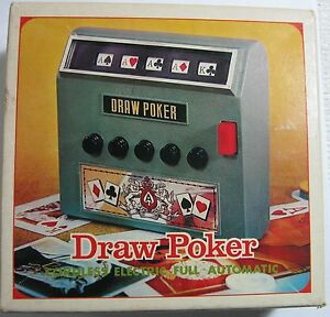 Radio Shack 60 2118 Cordless Electric Draw Poker Machine Ebay
