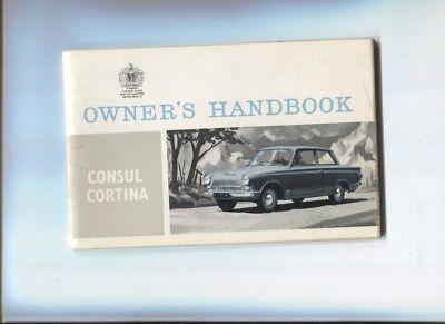 Onesto Ford Consul Cortina : Owner's Handbook February 1963