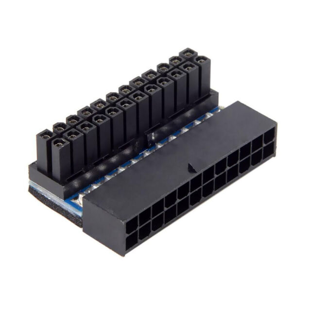 Festnight Premium Upward and Downward 90-Degree Mainboard Motherboard ATX 24Pin to 24Pin Power Adapter Connector for ATX Cable