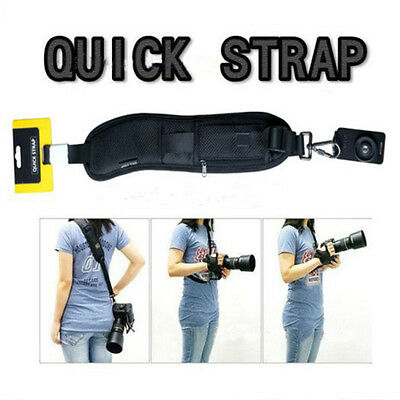 Black Quick Rapid Camera Shoulder Neck Sling Strap Belt  for Canon Nikon Sony