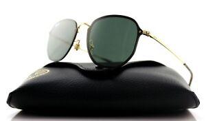 7eb1b0d3810ae NEW Authentic RAY-BAN BLAZE HEXAGONAL Gold Green Sunglasses RB 3579N ...
