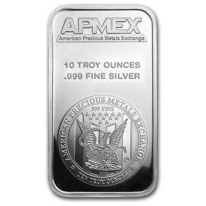 SPECIAL PRICE 10 oz APMEX Silver Bar 999 Fine SKU 88929