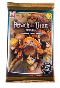 Panini MetaX  TCG Attack on Titan Single booster Pack, New and Sealed