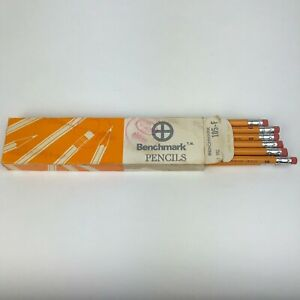 Vintage-Benchmark-Pencil-Pack-Of-12-105-F-NEW-Made-In-USA-Rare