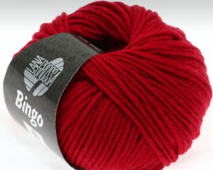 Bingo Lana Grossa 50g Colour 44 Rot Extra Fine Machine Washable
