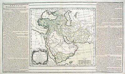 Asiatische Türkei, Persien, Arabien Original-Landkarte von Desnos/Brion 1790