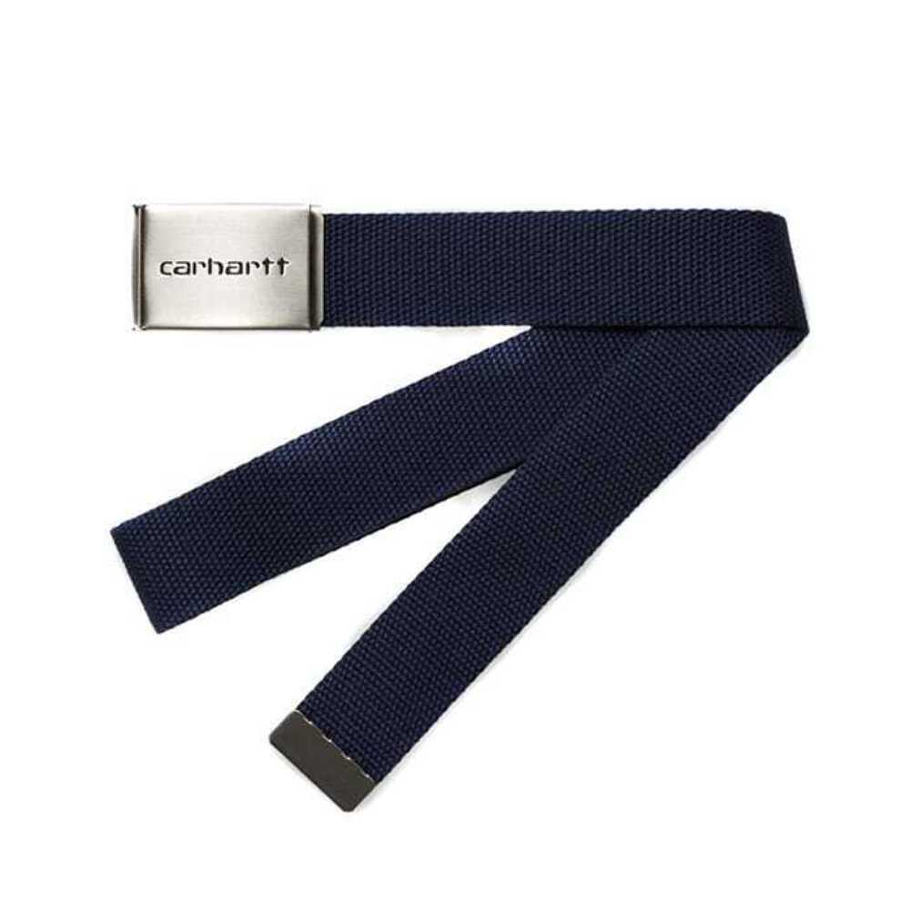 Carhartt Clip Belt Chrome Dark Navy