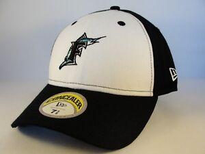 Florida Marlins MLB New Era Fitted Cap Hat Concealer White Black  097a9ea0bc0f