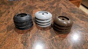 4x-Coleman-Power-Steel-Round-leg-Frame-Pool-Footings-caps-P61338