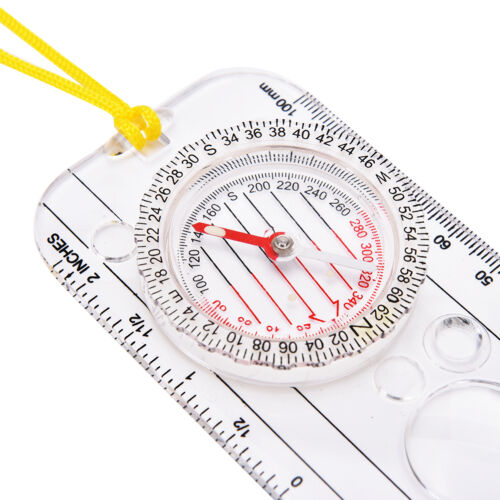 Magnifying Compass Army Scout Hiking Camping Boating Map Reading Orienteering.XB