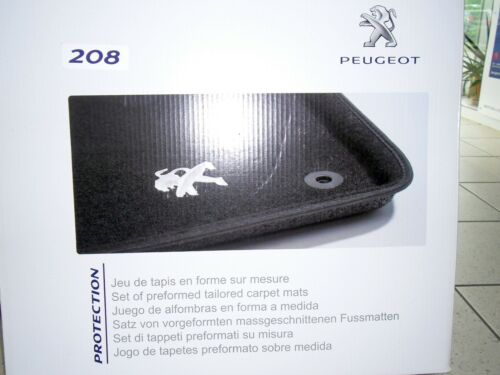 Peugeot 208 OE 1609072080 Schalenmatten schwarz Original Paßform Fußmatten
