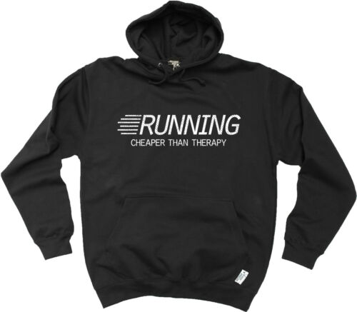 Running Cheaper Than Therapy HOODIE hoody training birthday fashion gift running