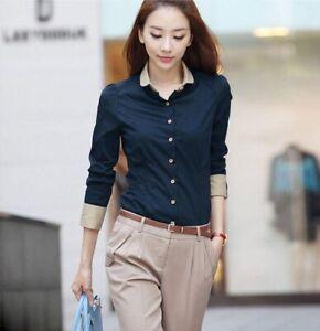 Korean Women Girl Casual Summer Ladies Shirts Loose Lady Women/'s Stylish Shirt